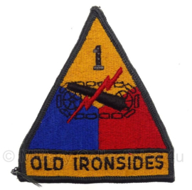 "US Army 1st ""Old Ironsides"" Armored Division Patch - 11 x 9 cm - origineel"