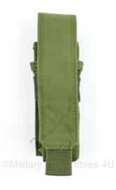 Defensie of US Army Groene MOLLE Glock magazine pouch - 15 x 5 x 3,5 cm - origineel