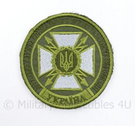 Oekraïense leger embleem  - met klittenband - diameter 9 cm - origineel