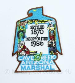 Cave creed Arizona Marshal patch  - 11 x 8 cm - origineel