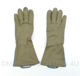 Nederlands leger handschoenen Leder/meta-aramide - groen/grijs - maat 10 - origineel