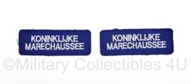 Kmar Marechaussee straatnaam paar - per paar - 9 x 3cm - origineel