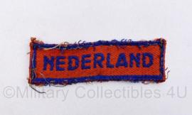 MVO straatnaam enkel Nederland - maart 1945 tot aug 1945 -  8 x 2,5 cm - origineel