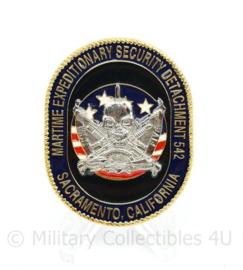 Zeldzame coin US Maritime Expeditionary Security Division 542 Sacramento California - 5 x 4 cm - origineel