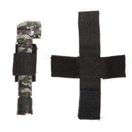 Tactical hoeklamp houder 100% nylon - ZWART of GROEN