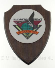 Luchtmobiele brigade wandbord - 19 x 15 cm - origineel