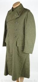 Zweedse WO2 overjas Zweedse mantel  Infanterie Regiment Fo 31 - met insignes - maat 92, 1940 origineel