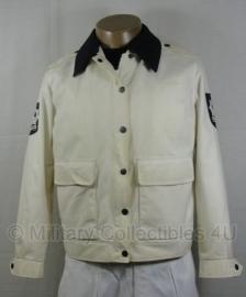 Gemeente politie jas zomer -  Heren - wit met donkere  of witte kraag - meerdere maten - origineel