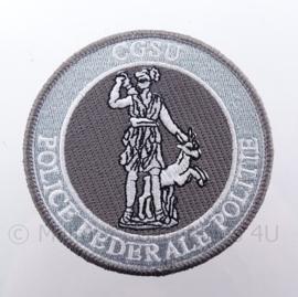 Belgisch CGSU Police Federale Politie embleem - met klittenband - diameter 9 cm