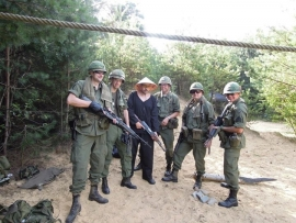 Airsoftgroep in Vietnam outfit
