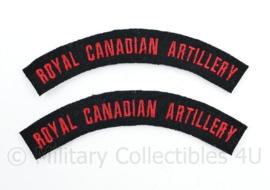 WO2 WW2 Royal Canadian Artillery shoulder title pair