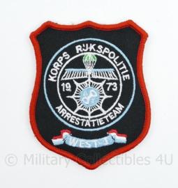 Korps Rijkspolitie Arrestatieteam West I - met klittenband  - 8 x 10 cm.