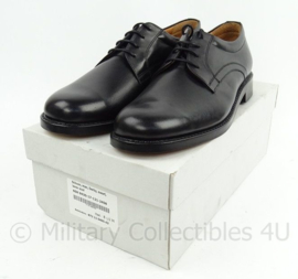 KL Nederlandse leger DT schoenen Derby zwart met lederen zool - NIEUW in doos - maat 9M = 43M / 10B =  45 breed of 11,5M = 46,5 m - origineel