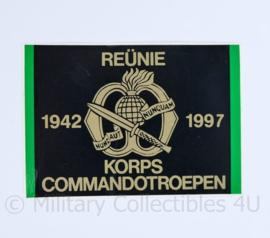 KCT Korps Commando troepen 1942- 1997 Reünie sticker - origineel