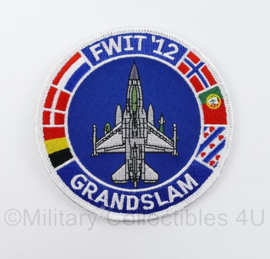 Klu Luchtmacht embleem FWIT Fighter Weapons Instructor Training  13 Grandslam - diameter 10 cm - met klittenband - origineel