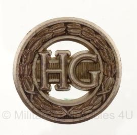 WO2 Brits Home Guard baret embleem cap badge - 4,5 x 4,5 cm - origineel