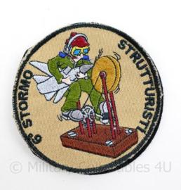 Mogelijk Italiaanse luchtmacht embleem - met klittenband - Strutturisti 6 Stormo - 7 x 5,5 cm - origineel