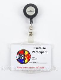 KLu Luchtmacht ID exercise participant Volkel 2016 - afmeting 9 x 7 cm - origineel