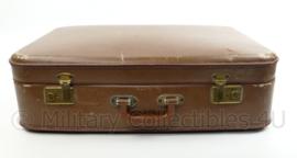 Vintage koffer - bruin - gebruikt - 60 x 41 x 16 cm - origineel