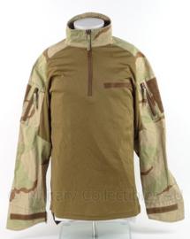 Leger Desert camo tactical shirt UBAC licht gebruikt  - model met groot klittenband - Maat Large (52/54) - origineel