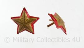Italiaanse leger of Carabinieri rangsterren set - 2 stuks - 1,5 x 1,5 cm - origineel