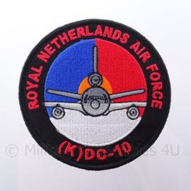 "KLu Koninklijke Luchtmacht RNLAF Royal Netherlands Air Force ""DC-10"" embleem -  met klittenband - diameter 10 cm"