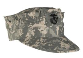 USMC pet - ACU camo met zwart USMC logo Ripstop