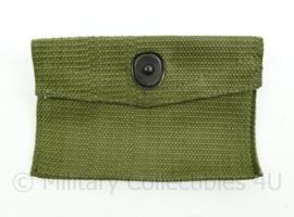 Korps Mariniers vorig model verbandtas first aid pouch groen Webbing - 13,5 x 9 x 0,3 cm - origineel