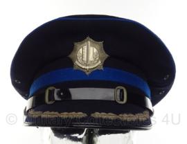 Nederlandse Gemeentepolitie platte pet - Korps chef - maat 55 - origineel