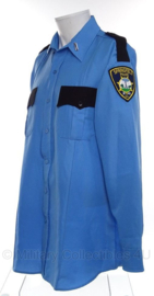 US Springfield Police shirt Politie - met emblemen - maat XL - origineel