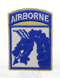 WO2 US  18th Airborne patch cut edge - afmeting 6 x 9 cm - replica