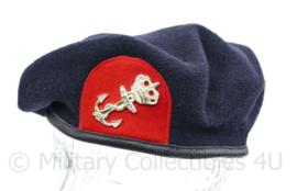 Korps Mariniers Kangol baret met insigne - KANGOL 1999 maat 59 - lichte beschadiging - origineel