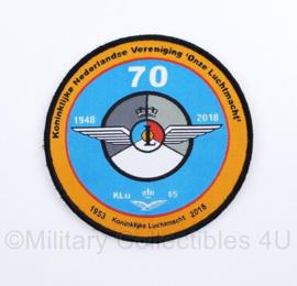 KLU Koninklijke Luchtmacht 1953 - 2018 embleem Koninklijke Nederlandse Vereniging 'Onze Luchtmacht' - met klittenband - diameter 10 cm - origineel