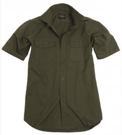 Field blouse Overhemd RIPSTOP - OD groen - Small - KORTE MOUW