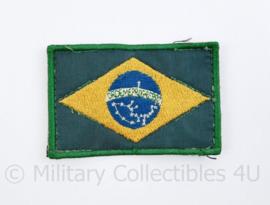 Braziliaanse leger vlag embleem met klittenband - 8 x 5 cm  - origineel