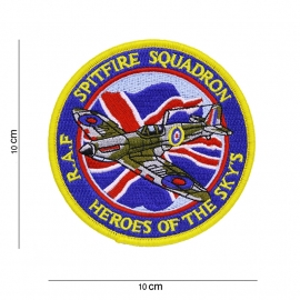 RAF Royal Air Force Spitfire Squadron - Heroes of the Sky's - 10 cm. diameter