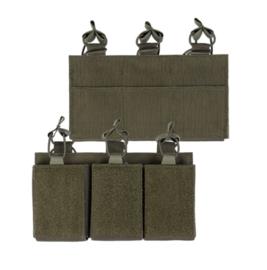 Magazijntas Triple Magazin pouch koppeltas met velcro - voor 3 M4, M16 of AR15 magazijnen - GROEN