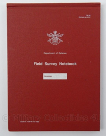 Boek Australisch Field Survey Notebook - Department of Defence 2002- afmeting 21,5 x 15,5 cm - origineel