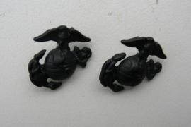 USMC kraag insigne PAAR - zwart