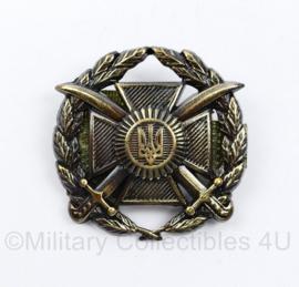 Oekraïense leger officiers pet insigne  - 5 x 5 cm - origineel