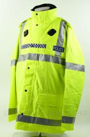 Britse Politie POLICE  jacket High Visibility - met reflecterende strepen - fluorgeel - NIEUW in verpakking - maat XXL - origineel