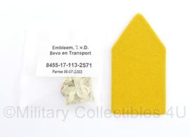 Defensie enkele DT kraaginsigne BEVO en Transport - nieuw in verpakking - 8 x 4 cm - origineel