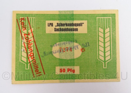 Duits LPG DDR Scherkondequell Sachsenhausen - 50 Pfg - origineel