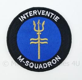 Korps Mariniers NLMARSOF Interventie M-Squadron embleem - met klittenband - diameter 9 cm
