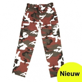 Broek red urban camo