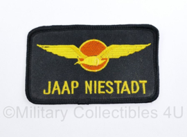 KLU Koninklijke Luchtmacht borstembleem Jaap Niestadt - 10 x 6 cm - origineel