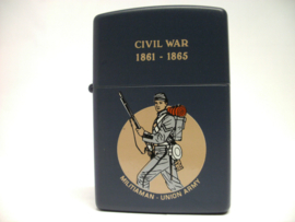 Zippo Windproof aansteker - Civil War Militiaman - Union Army 1861-1865 - collectors item - origineel