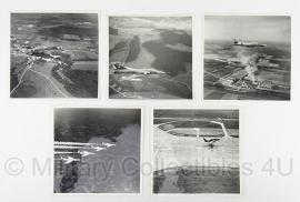 "5 originele Franse leger vliegtuig foto's 1964 - 42e ESC RECCE Section Photo ""Reproduction Interdite"""
