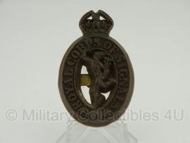 Royal Corps of Signals cap badge  - plastic 1943 uitvoering - met stempels - origineel WO2 Brits