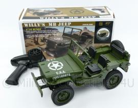 Willys MB WO2 jeep model 1:10 - op afstand bestuurbaar en met verlichting!